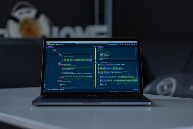 Laptop Open Showing Code
